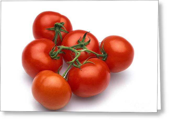 Red Tomatoes Greeting Card by Gerard Lacz