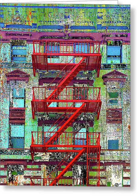 Greeting Card featuring the mixed media Red by Tony Rubino