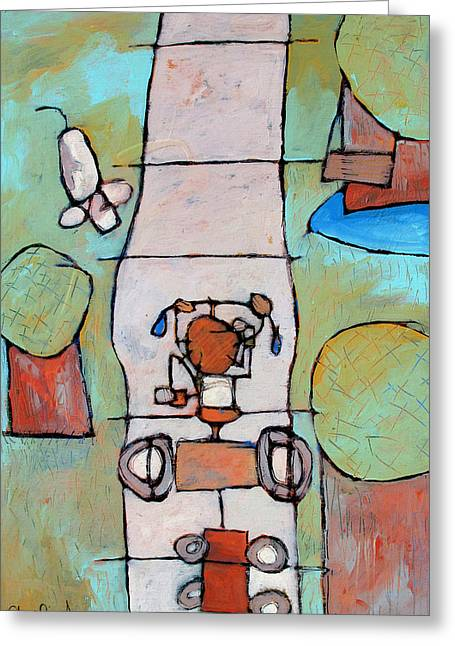 Red Trike Greeting Card by Charlie Spear