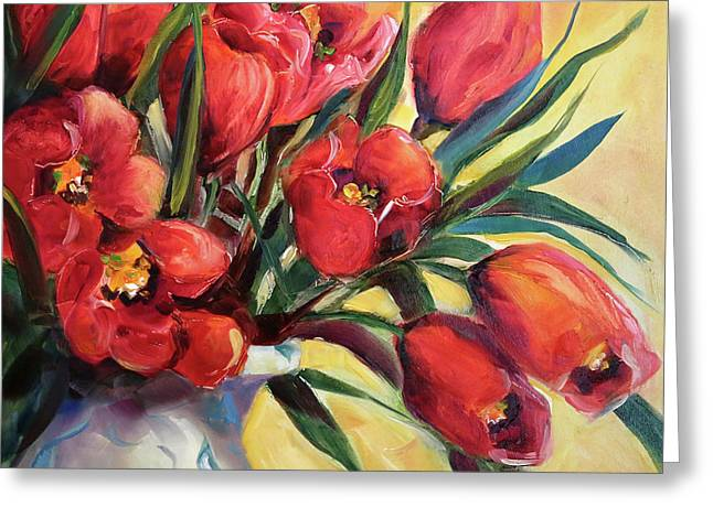 Red Tulip Kiss Greeting Card