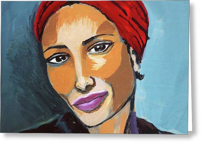 Red Turban Greeting Card