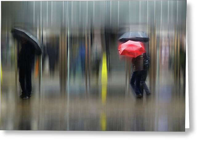 Greeting Card featuring the photograph Red Umbrella by LemonArt Photography