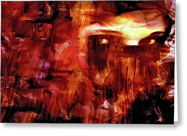 Greeting Card featuring the photograph Red Veil by Linda Sannuti