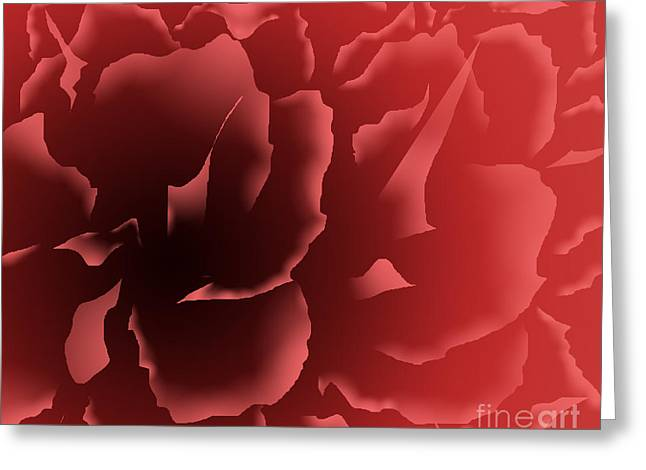 Red Velvet Peony Greeting Card