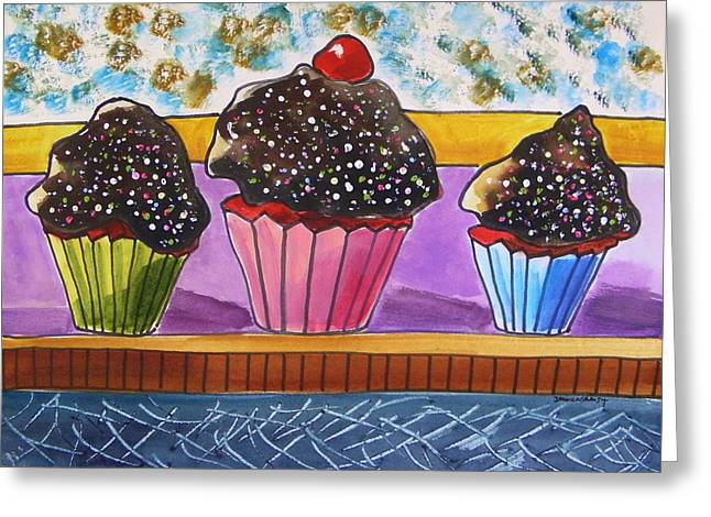Red Velvet With Hot Fudge Frosting Greeting Card by John Williams