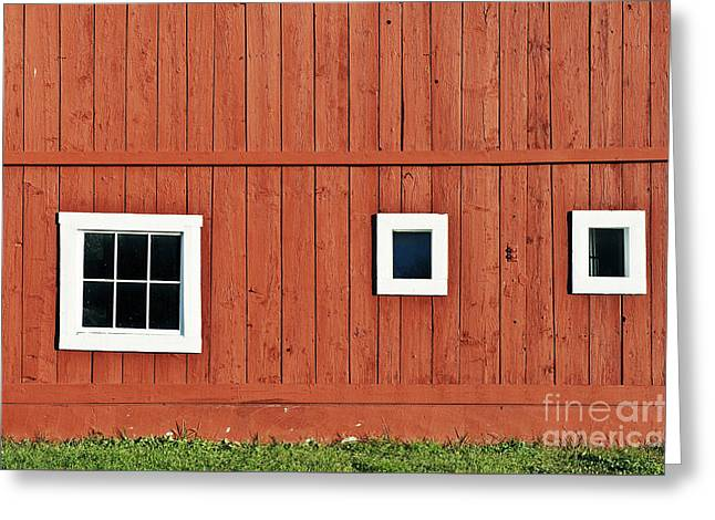 Red Vermont Barn.  Greeting Card