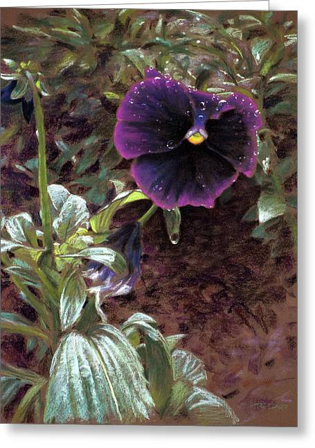 Red Violet Dew Greeting Card