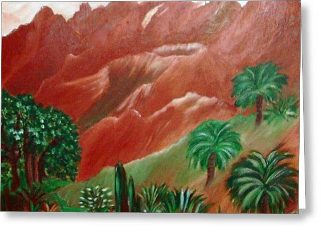 Greeting Cards - Red Volcano Greeting Card by Sherri  Of Palm Springs