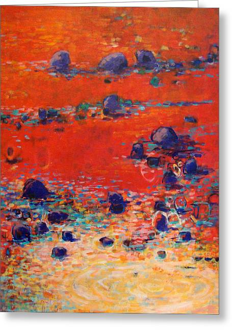 Red Waters Greeting Card by Dale  Witherow