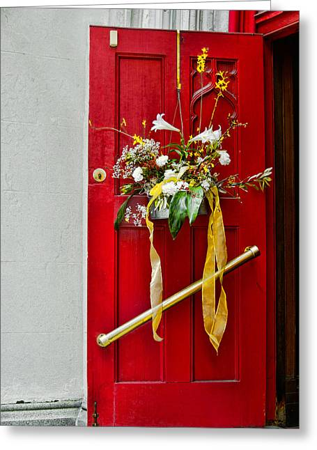 Red Welcome Greeting Card by Christopher Holmes