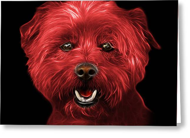 Red West Highland Terrier Mix - 8674 - Bb Greeting Card