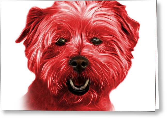 Red West Highland Terrier Mix - 8674 - Wb Greeting Card