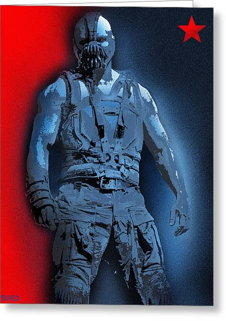 Red White And Bane Greeting Card