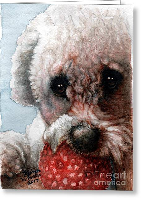 Red, White And Bella Greeting Card