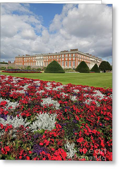 Red White And Blue At Hampton Court Greeting Card