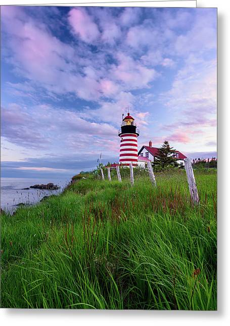 Red, White And Blue - Vertical Greeting Card