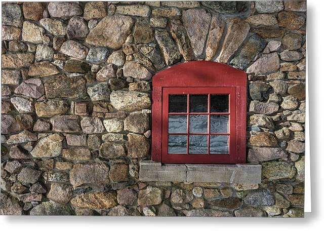 Red Window Greeting Card