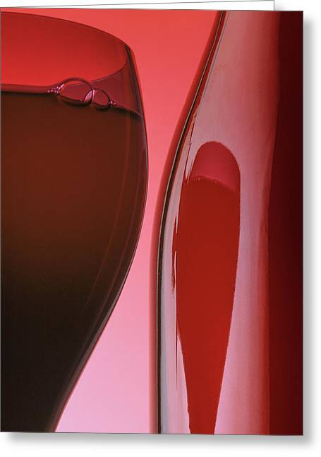 Red Wine 3x2 Format Greeting Card by Garry McMichael