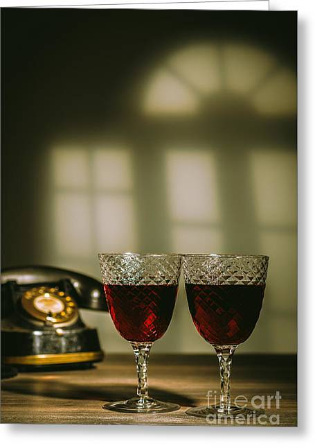 Red Wine Greeting Card