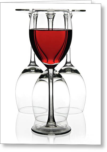 Red Wine Greeting Card by Pics For Merch