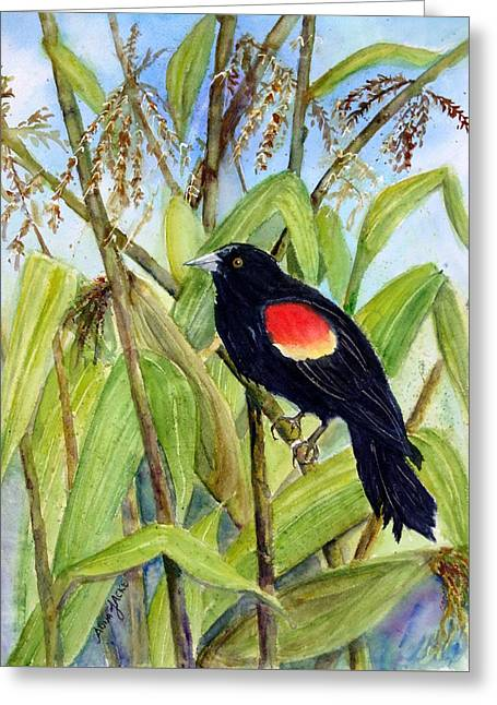 Red-winged Sentry Greeting Card