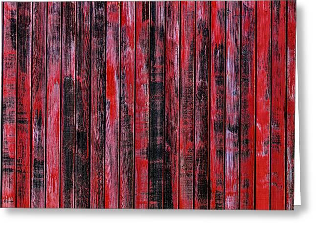 Red Wood Box Car Detail Greeting Card
