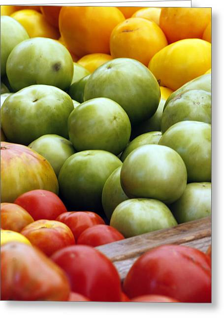 Red Yellow Green Greeting Card by Alan Todd
