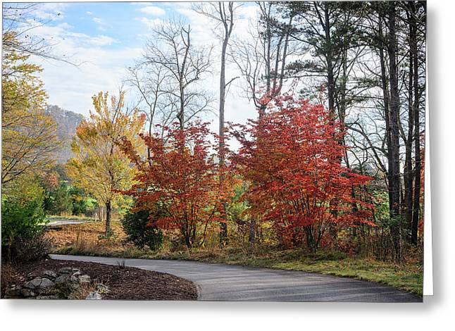 Red Yellow Path Greeting Card