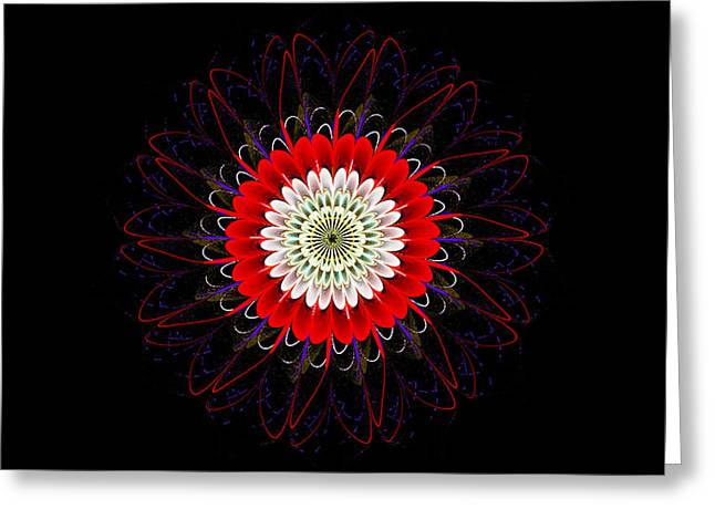 Red Zinnia Greeting Card