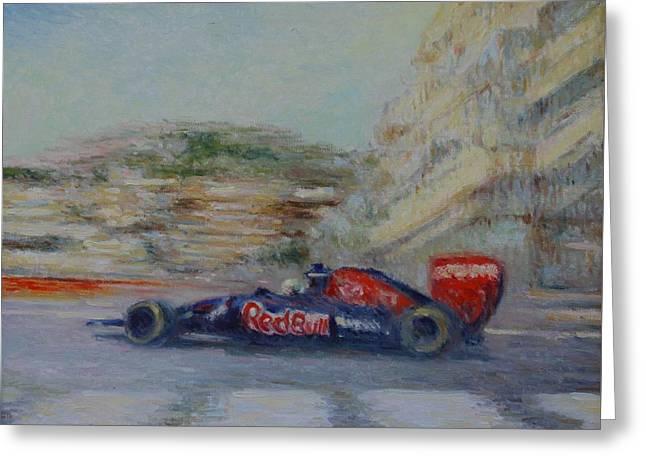 Redbull Racing Car Monaco  Greeting Card