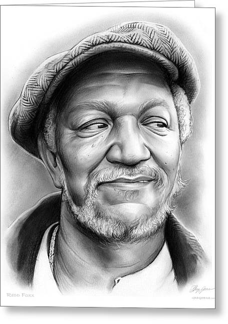 Redd Foxx Greeting Card by Greg Joens