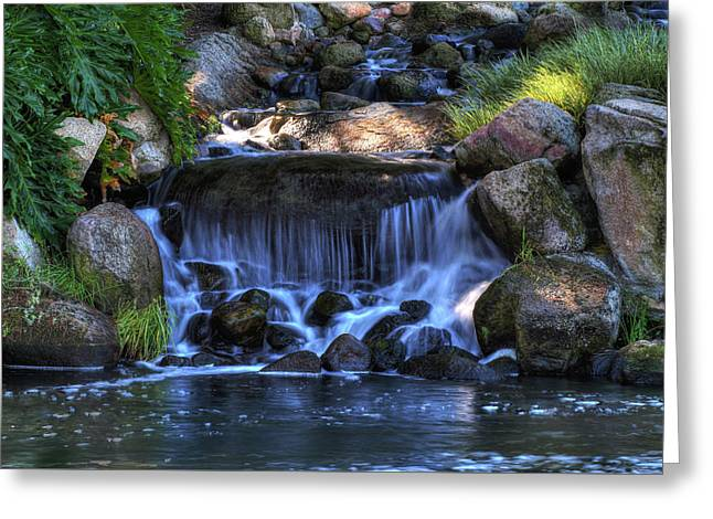 Redhawk Waterfall 10 Greeting Card
