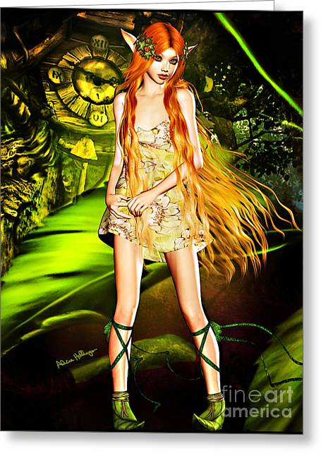 Redhead Forest Pixie Greeting Card