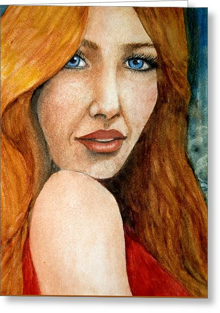 Redhead In October Greeting Card