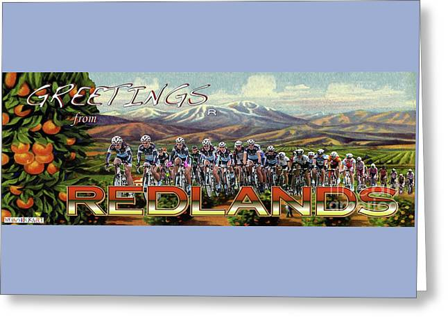 Redlands Greetings Greeting Card by Linda Weinstock