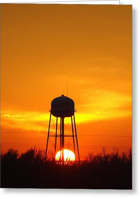 Redneck Water Heater For Whole Town Greeting Card by J R Seymour