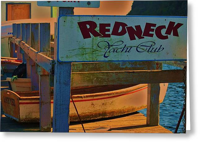 Redneck Yacht Club Greeting Card