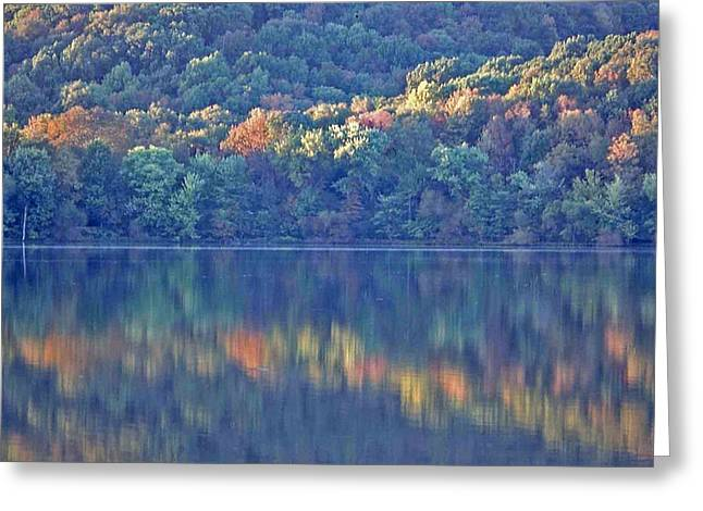 Rednor Lake Reflections - 1 Greeting Card by Randy Muir