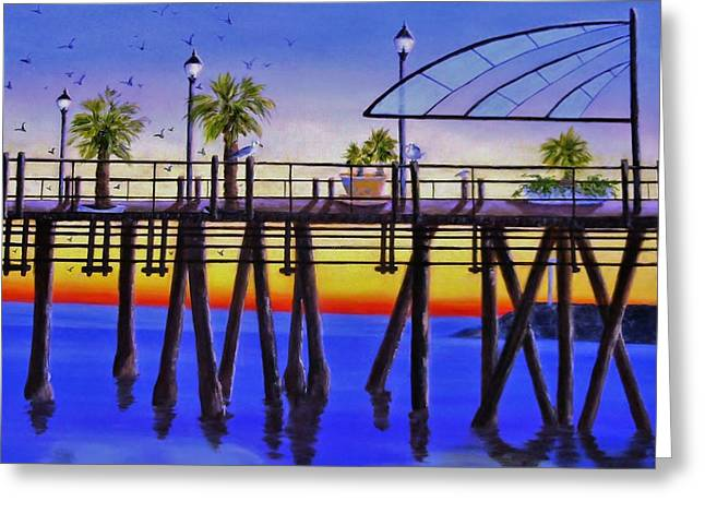 Redondo Beach Pier Greeting Card