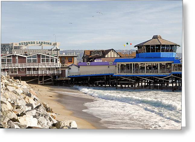 Redondo Beach Pier Shopping Greeting Card