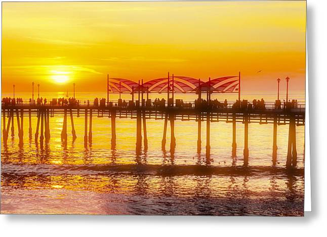 Greeting Card featuring the photograph Redondo Sunset by Michael Hope