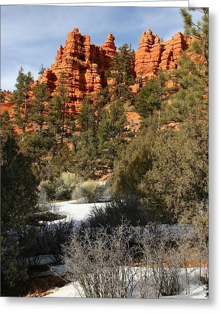 Redrock Winter Greeting Card