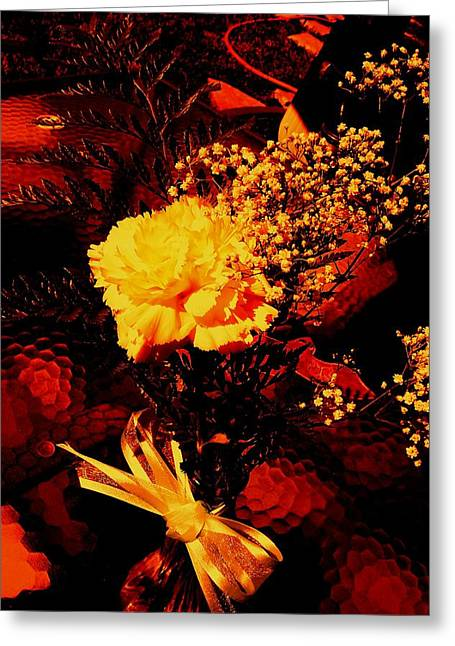 Reds And Yellows. Greeting Card by Douglas Kriezel