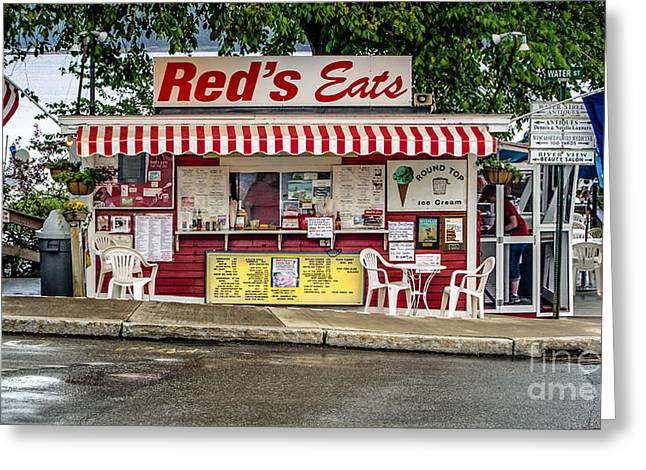 Red's Eats Greeting Card by Jerry Fornarotto