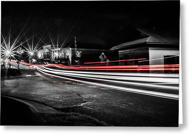 Reds In Downtown Helena Greeting Card