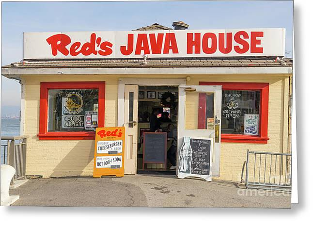 Reds Java House At San Francisco Embarcadero Dsc5759 Greeting Card