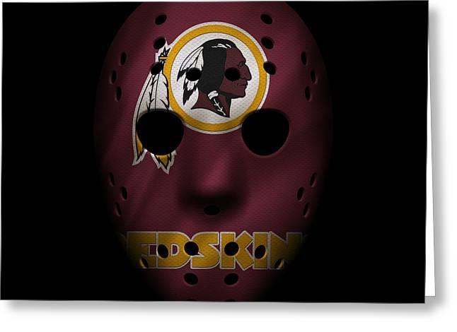 Redskins War Mask Greeting Card