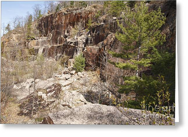 North Conway Greeting Cards - Redstone Granite Quarry - Conway New Hampshire Greeting Card by Erin Paul Donovan