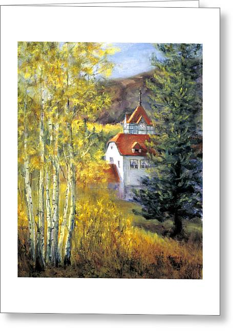 Redstone Inn Greeting Card by Jill Musser