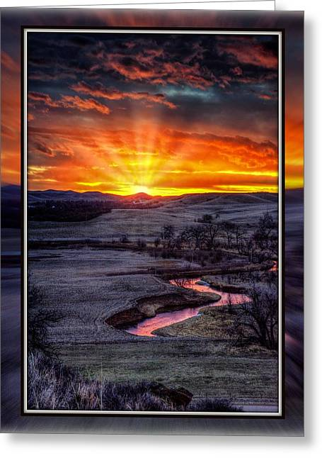 Redwater River Sunrise Greeting Card